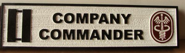 V31819A - Carved and Sandblasted HDU Plaque for Room Name (Company Commander)