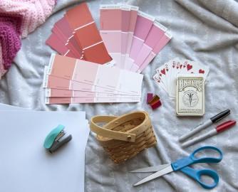 Valentine's Day DIY gift idea supplies