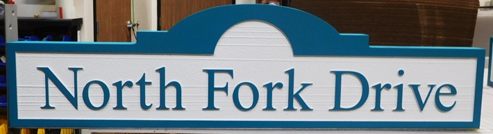 H17073 - Carved HDU Street Name Sign, North Fork Drive
