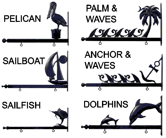 L22058 - Nautical Theme Scroll Brackets for a Post or Wall