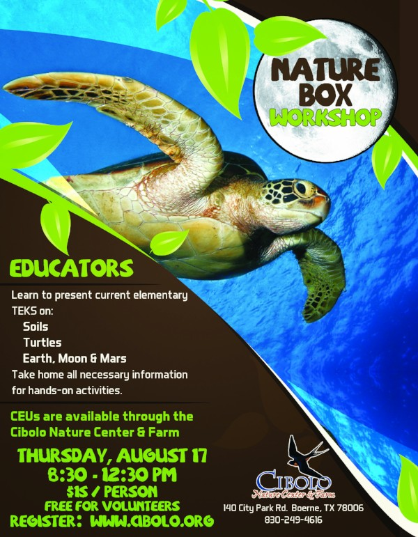 CNC: Nature Box Workshop for Educators