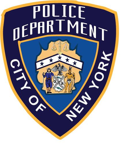 X33660 - Carved Wood Wall Plaque of NY Police Dept Shoulder Patch