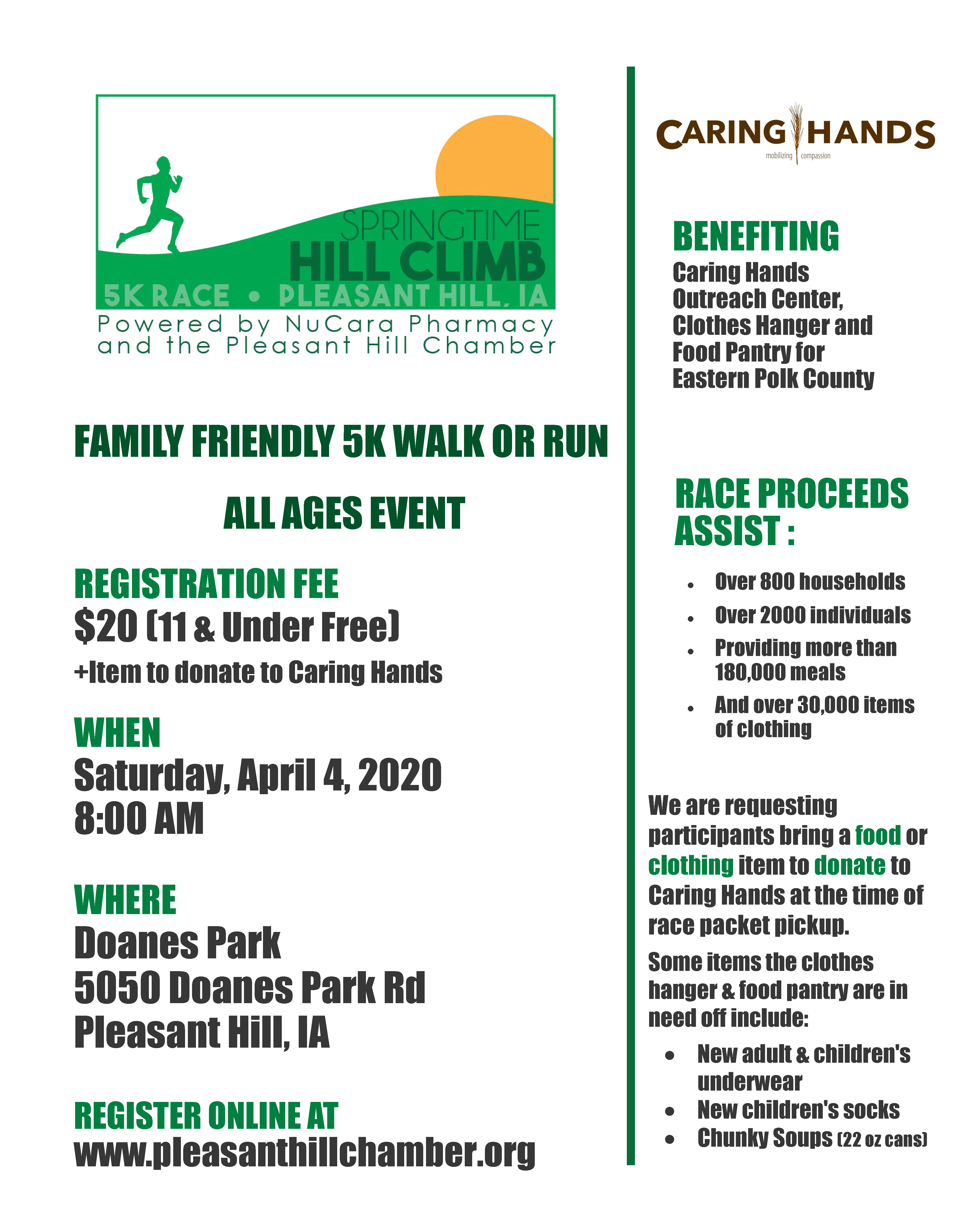 Register for Spring Time Hill Climb