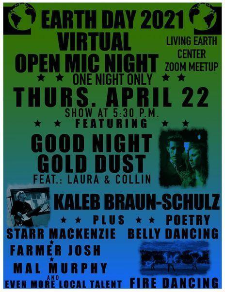 Earth Day Virtual Open Mic Night
