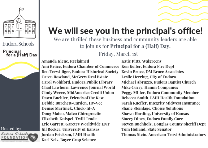 Local Community and Business Leaders Become School Principals for a (Half) Day