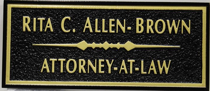 A10455 - Carved and Sandblasted Sign for the Law  Office of Rita C. Allen-Brown, Attorney-at-Law