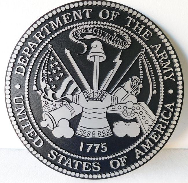 M7543 -  Precision Machined Aluminum  US  Army Seal Plaque
