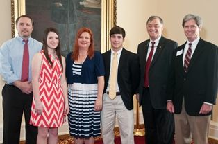 Rep. Paul Beckman & Jimmy McLemore with Hannah Walker & family
