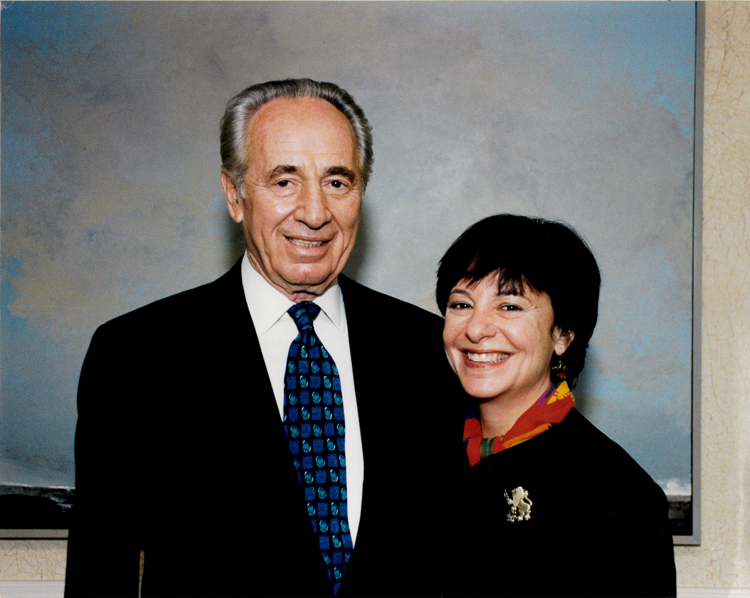 Michele Rosen with the former Israeli Prime Minister and President, Shimon Peres.