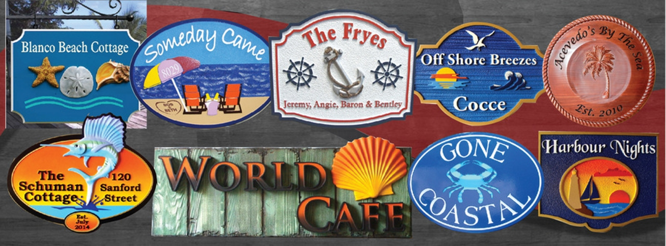 seashore, Beach and Nautical Signs and Plaques