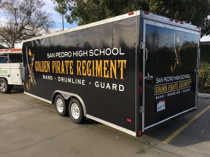 Utility Trailer Graphics for Schools | San Pedro CA