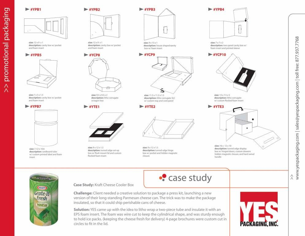 Promotional Packaging Catalog Page