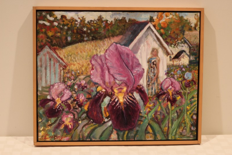 Iris painting - Donated by Paul Emory