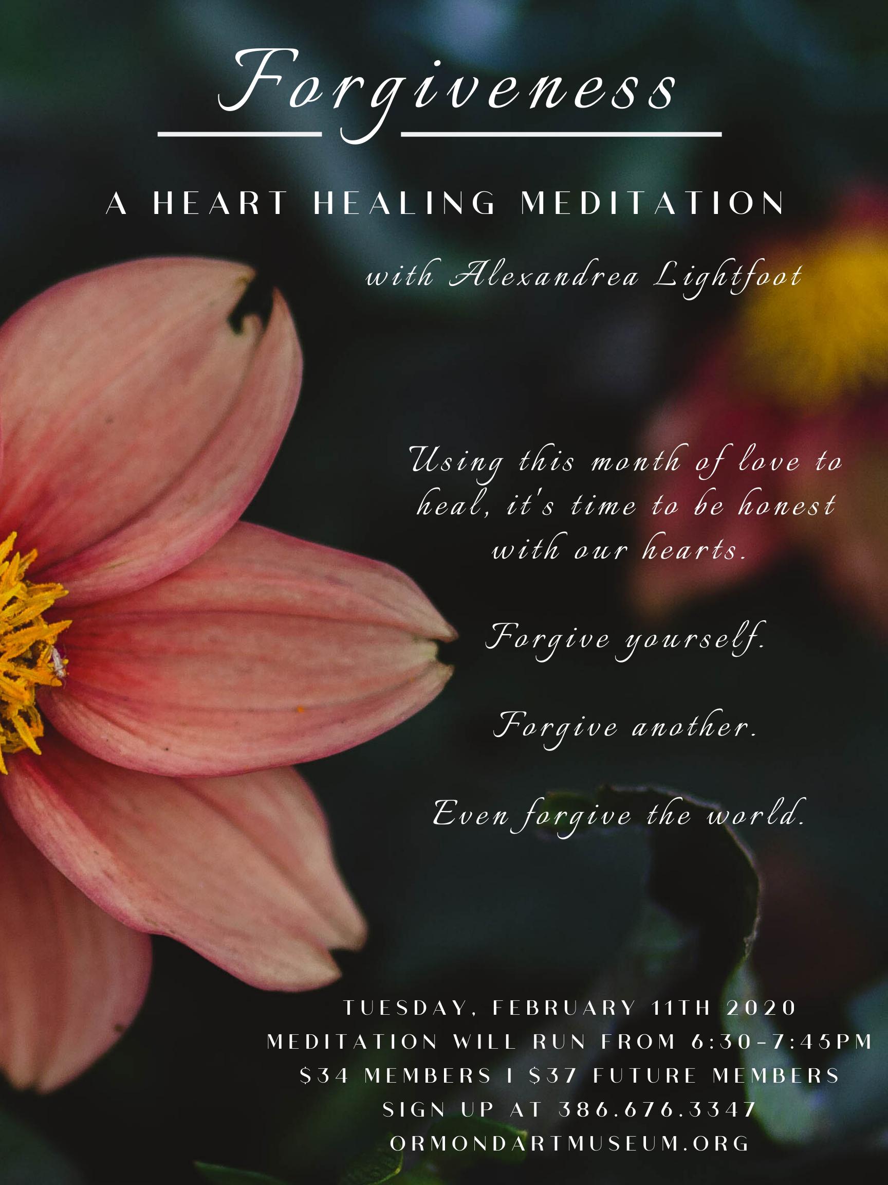 Forgiveness: A Heart Healing Meditation with Alexandrea Lightfoot