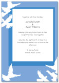 Doves wedding invitation | Kwik Kopy Design and Print Centre Halifax