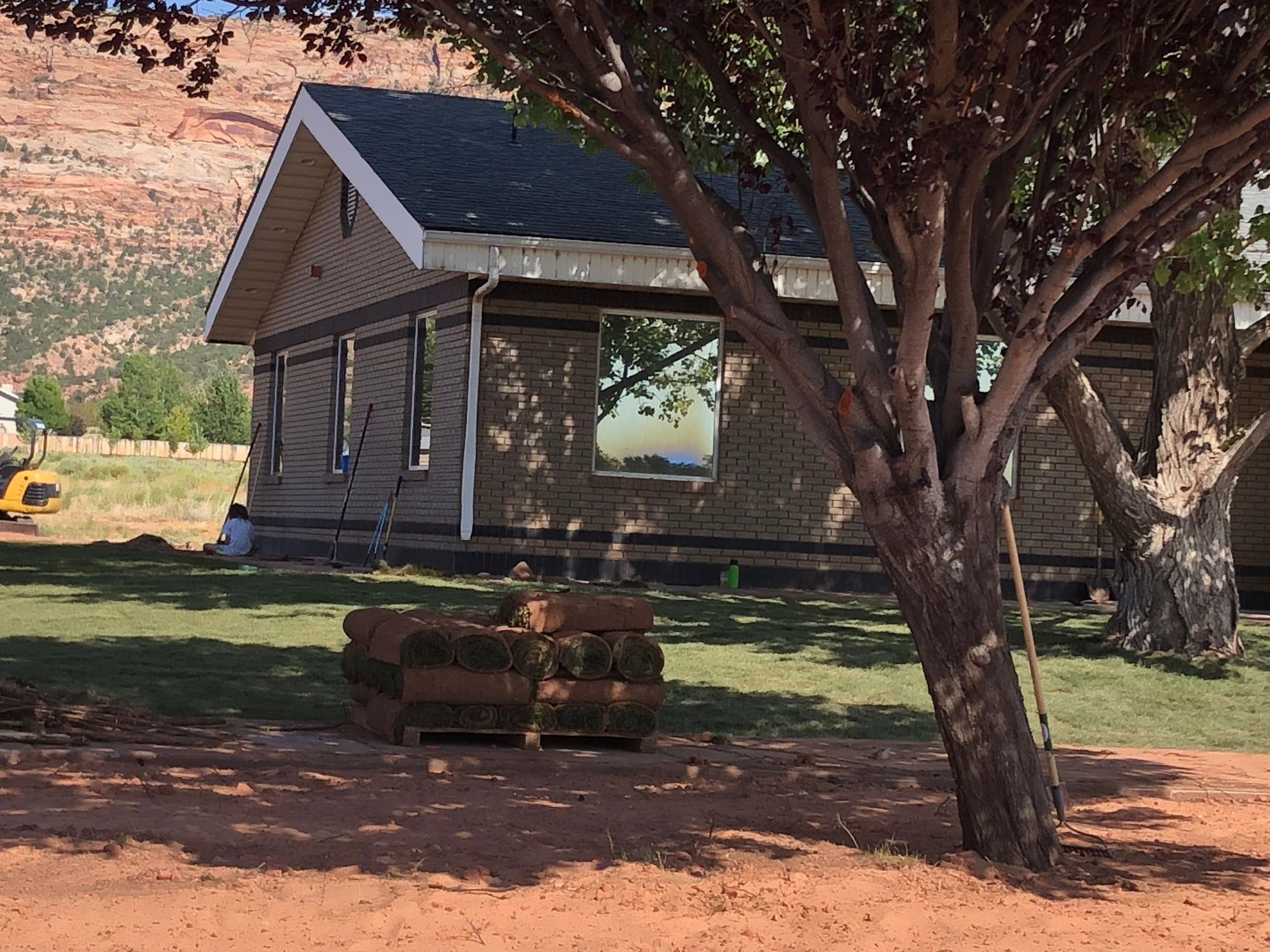 New sod at the Creek Valley Health Center in polygamist community of Colorado City, AZ