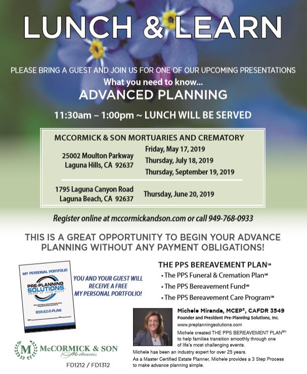 """Advanced Planning"" Lunch & Learn"