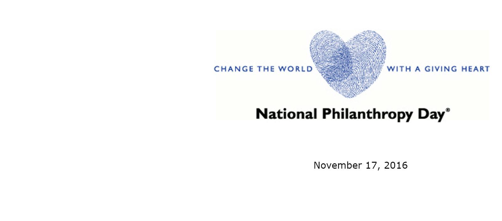 National Philanthropy Day 2016