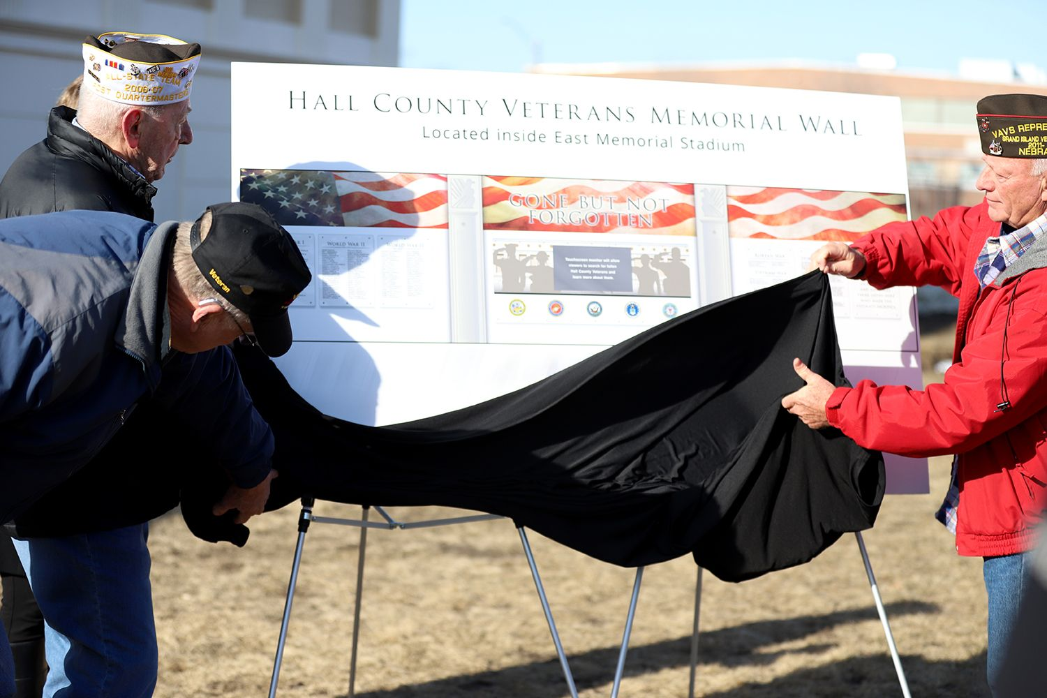 Hall County Veterans Memorial Unveiling