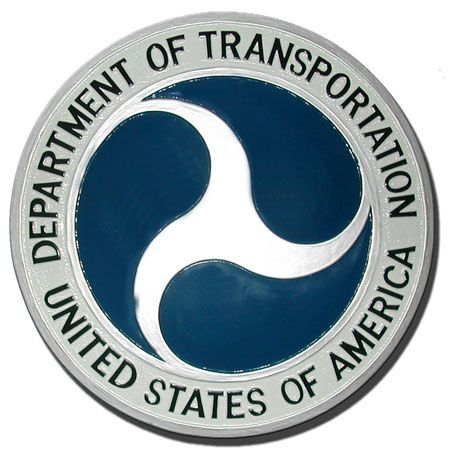 AP-6080 - Carved Plaque of the Seal of the US Department of Transportation, Artist Painted