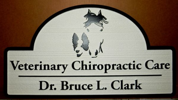 BB11766 -  Carved HDU Equine Veterinary  Chiropractic Care Sign