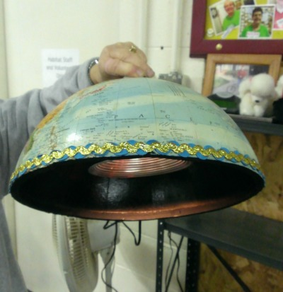 Globe into lamp