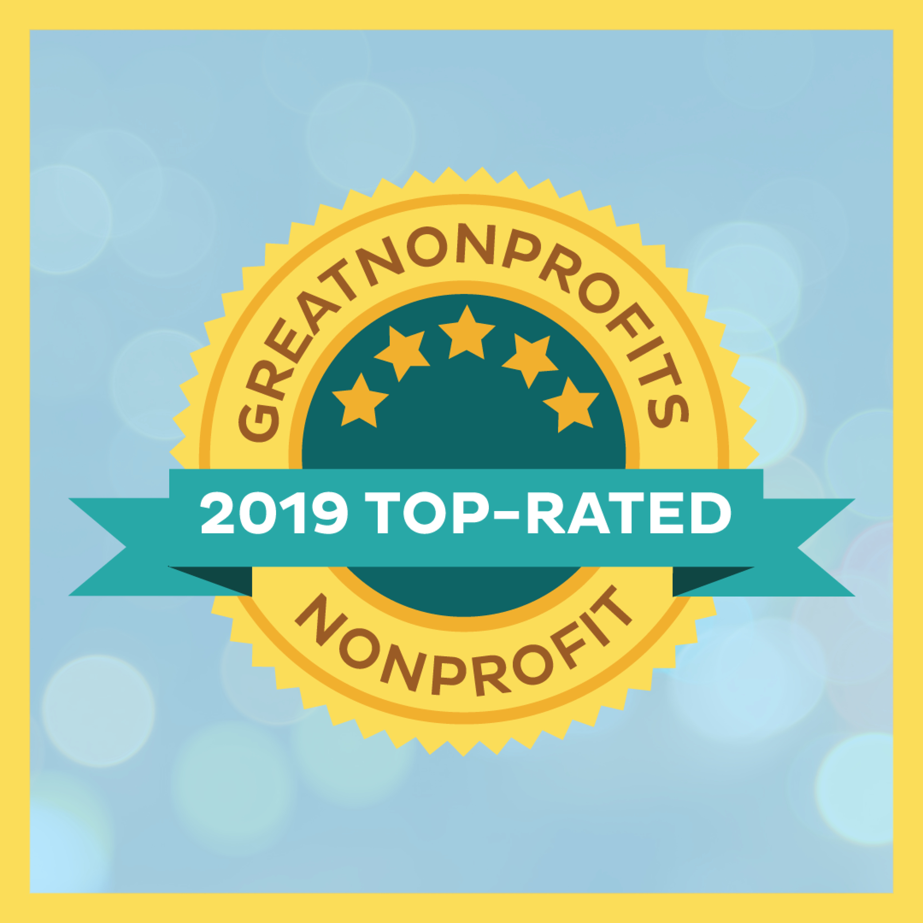 We're a 2019 Top-Rated Nonprofit!