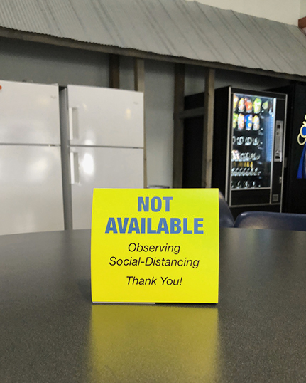 """Spacing Contol """"Not Available"""" Table Tents (10-Pack)"""