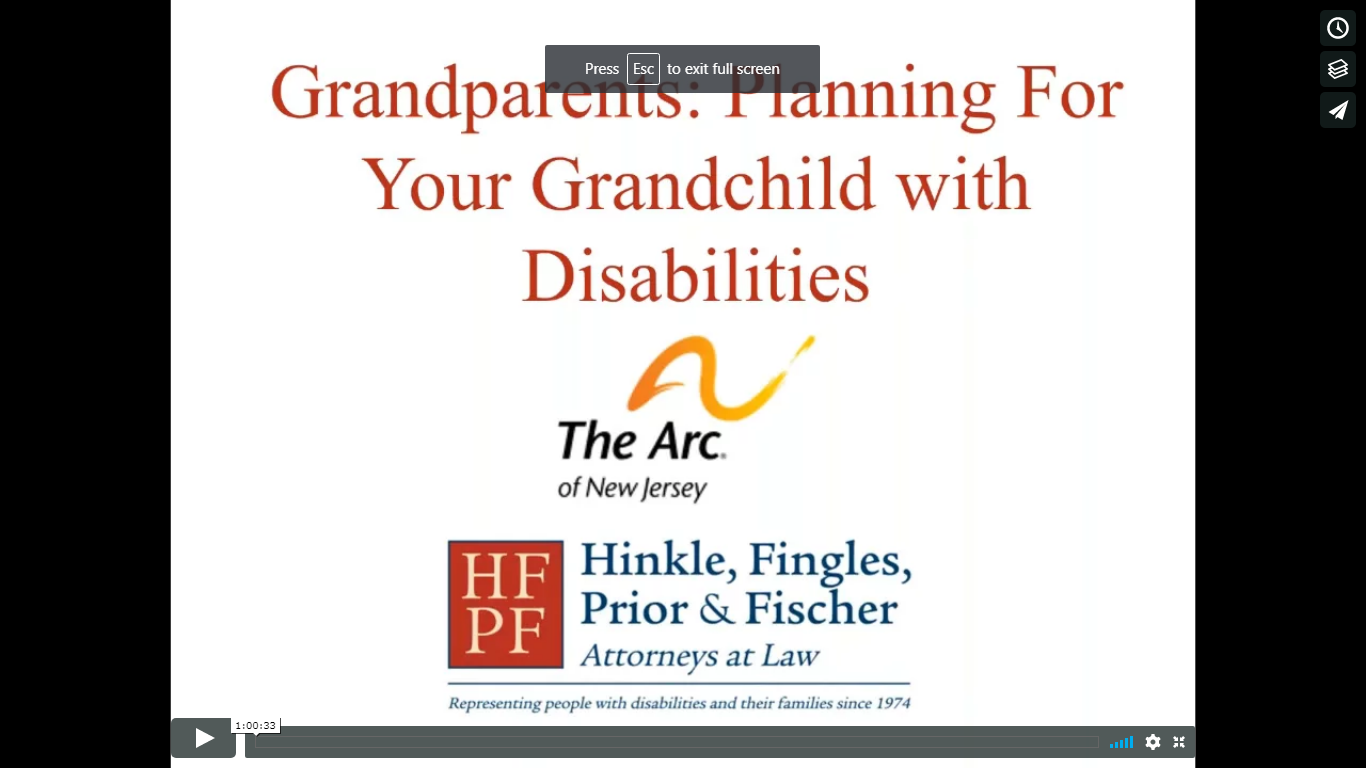 Grandparents Planning for your granchild with disabilities