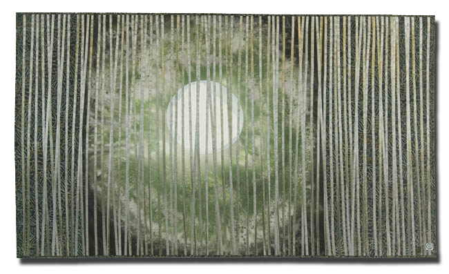 'Through the Trees:  Solstice Moon,' made by Chris Wolf Edmonds, made in Berryton, Kansas, United States, dated 2001, 67.5 x 39 in, IQSCM 2005.005.0001