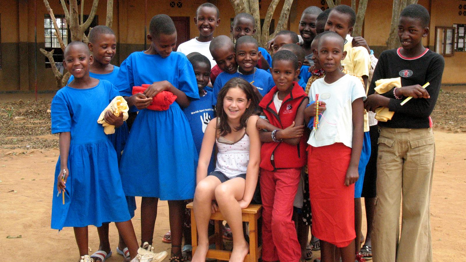 Jessica in Nyamata, Rwanda, 2007.