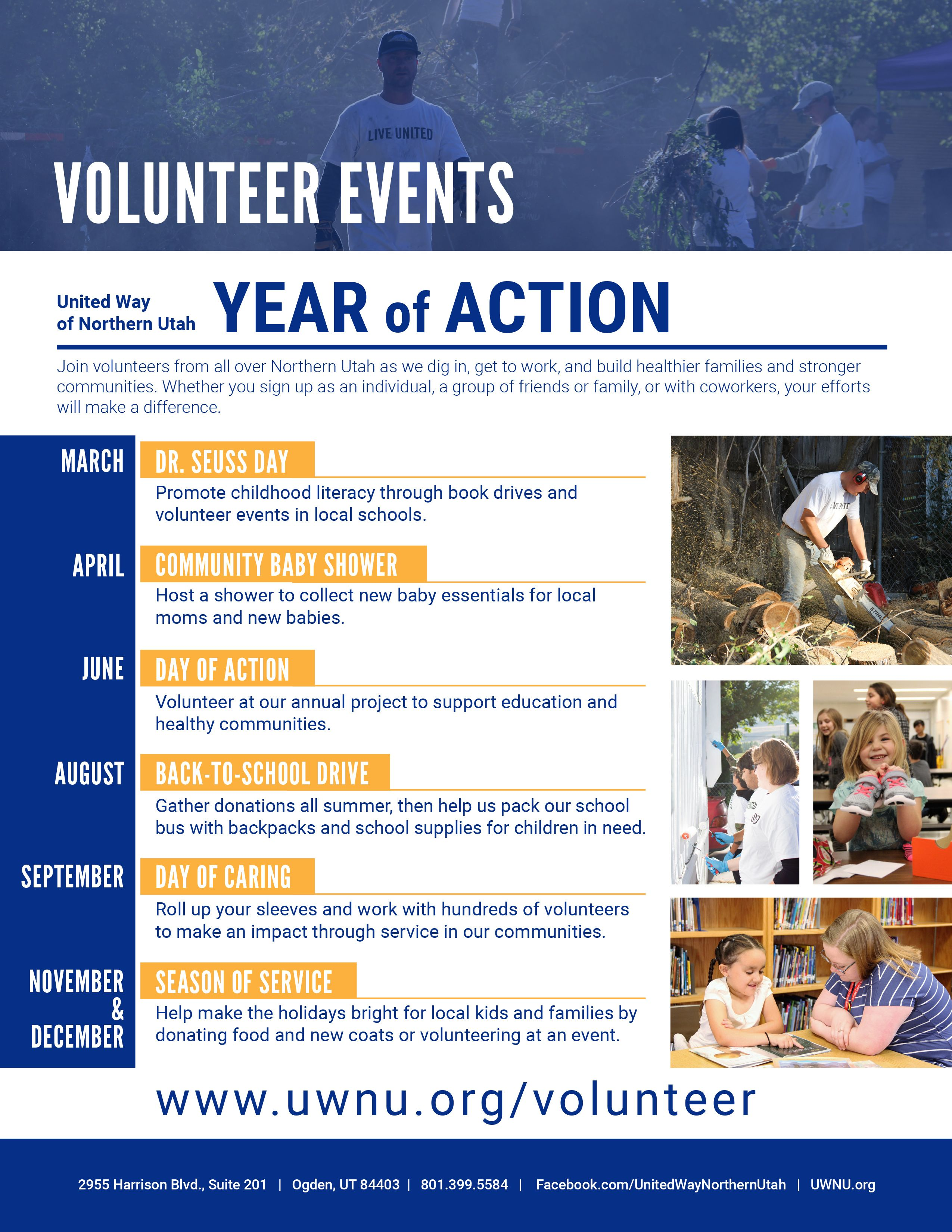Year of Action Volunteer Calendar