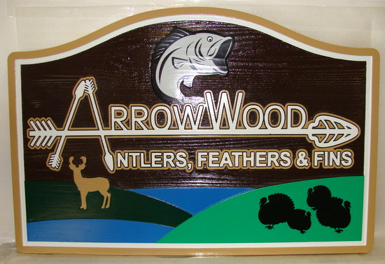 M22006 - Arrowwood Property Name Sign