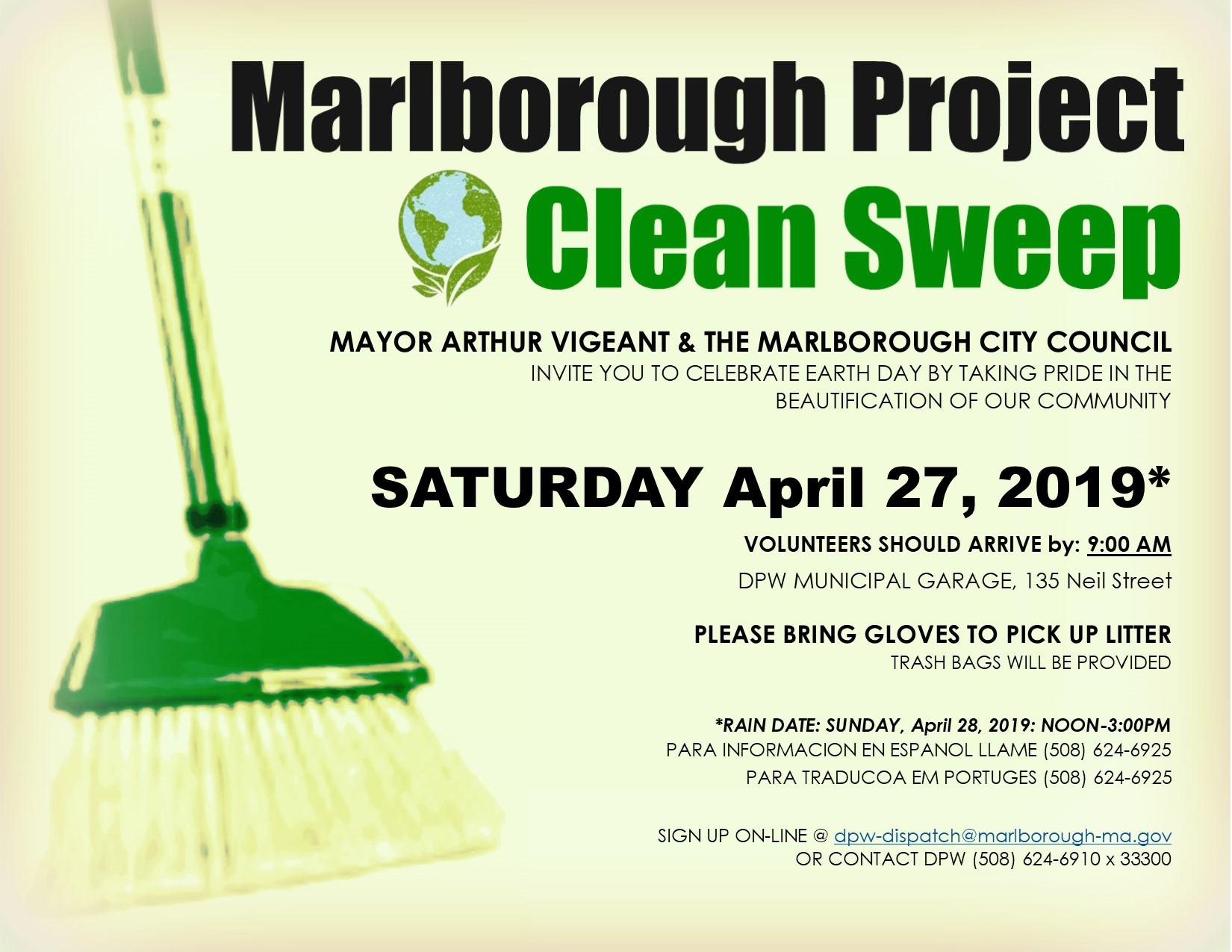 Marlborough Project Clean Sweep