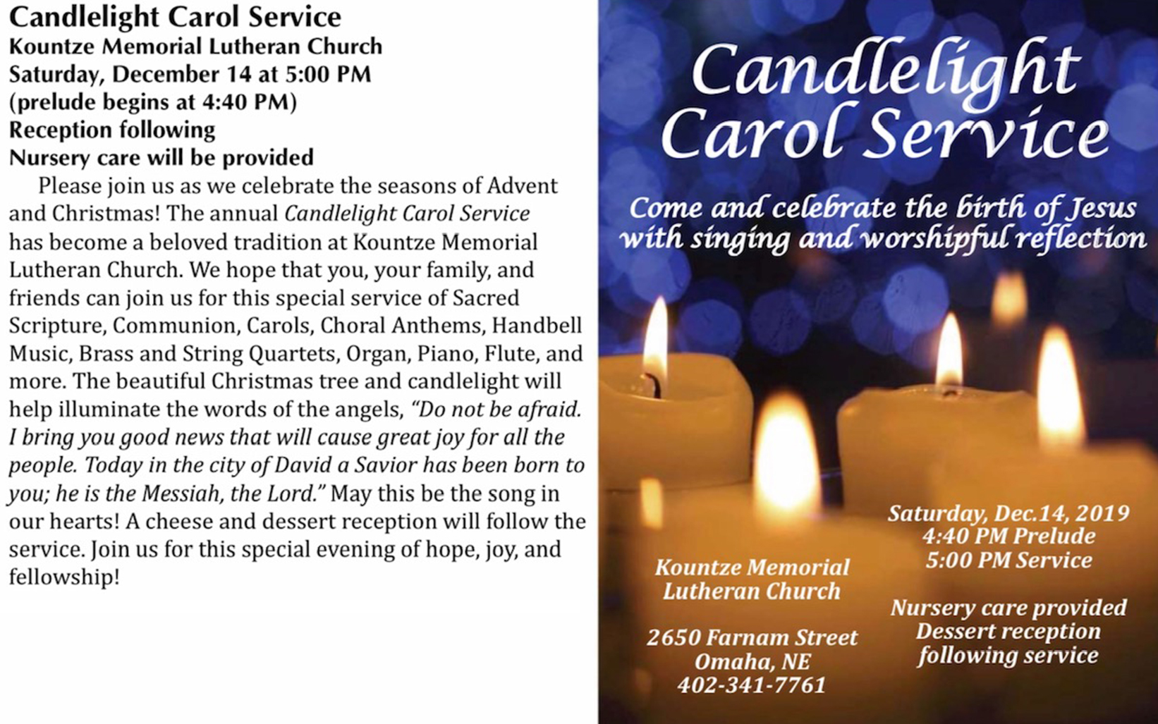 Candlelight Carol Service