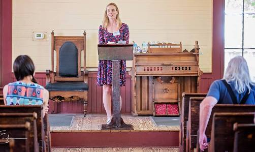 Lauren Goodwin Slaughter at the 2016 Alabama Book Festival poetry venue (Jonah Enfinger Photography)