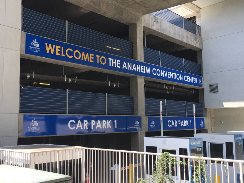 Signs and Graphics for Convention Center Parking Garages Anaheim CA