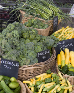 Broccoli and summer squash