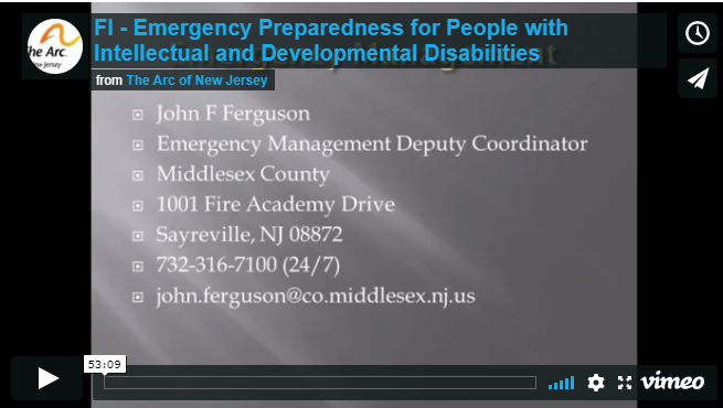 Emergency Preparedness for People with Intellectual and Developmental Disabilities