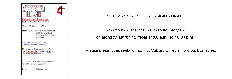 Restaurant fundraiser at J&P in Finksburg