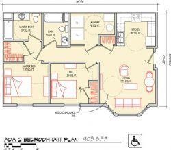 ADA 2 Bedroom 903 SF