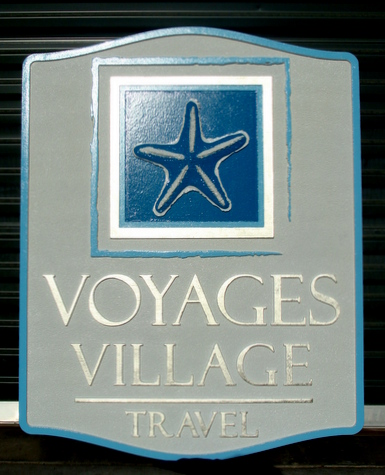 L21958 - Carved Wood Sign for Travel Agency Sign on Coast