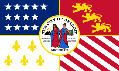 X33073 - Flag of the City of Detroit, Michigan