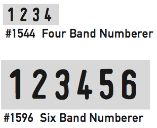 #1544 Four Band | #1596 Six Band Numberer