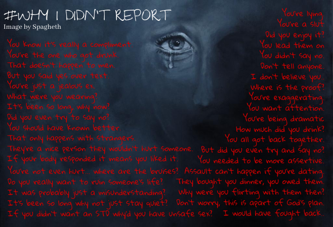 """Why didn't you just report?"""