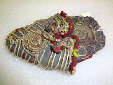 Handmade Beaded Child's Slipper