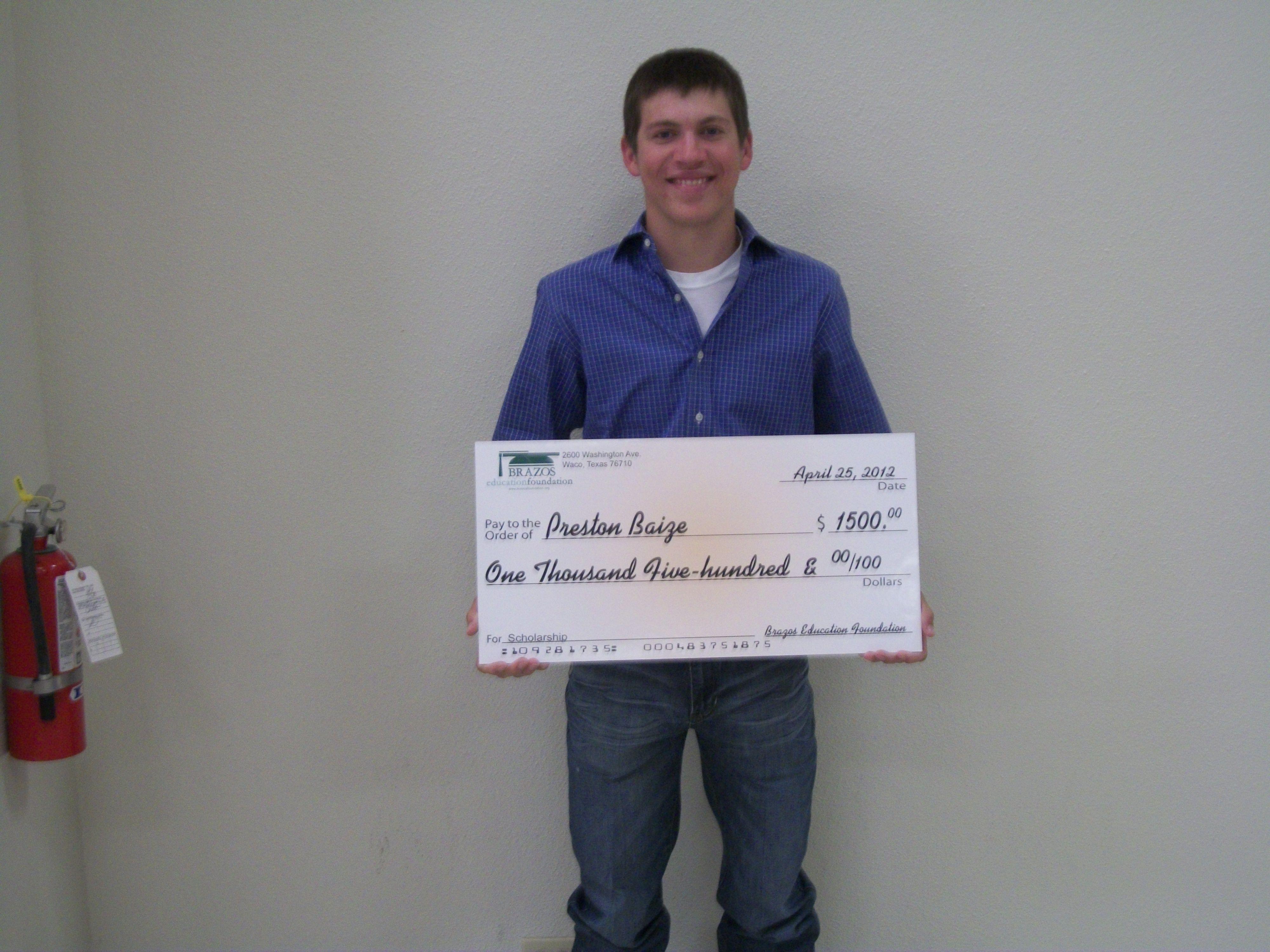 Preston Baize - Mart High School Graduate