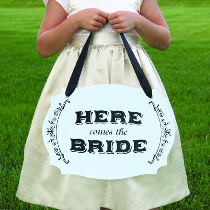 Here Comes the Bride - Two Sided Sign