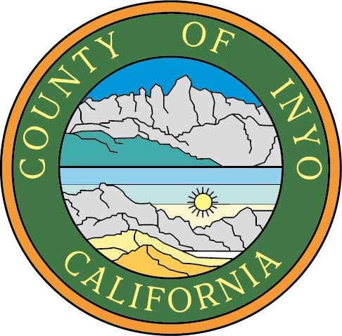 CP-1260 - Carved Plaque of the Seal of Inyo  County,California,  Artist Painted