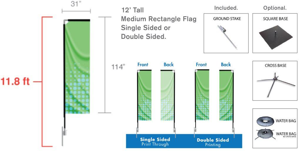 Flag, Medium 12'